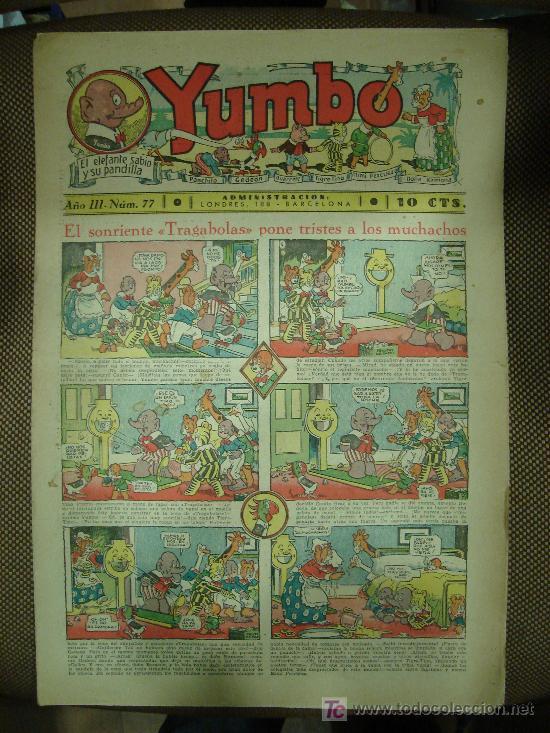YUMBO. Nº 77. FORMATO GRANDE. (Tebeos y Comics - Tebeos Clásicos (Hasta 1.939))