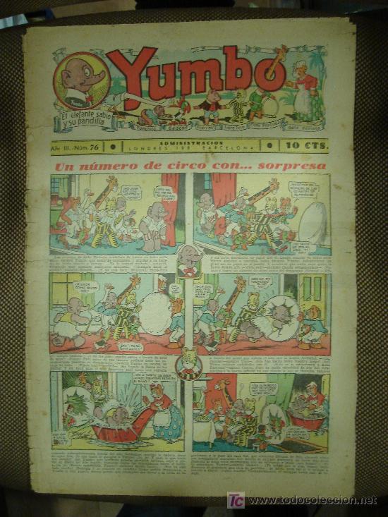 YUMBO. Nº 76. FORMATO GRANDE. (Tebeos y Comics - Tebeos Clásicos (Hasta 1.939))
