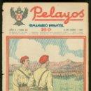 Tebeos: PELAYOS. SEMINARIO INFANTIL. Nº 24. JUNIO 1937.. Lote 19381075