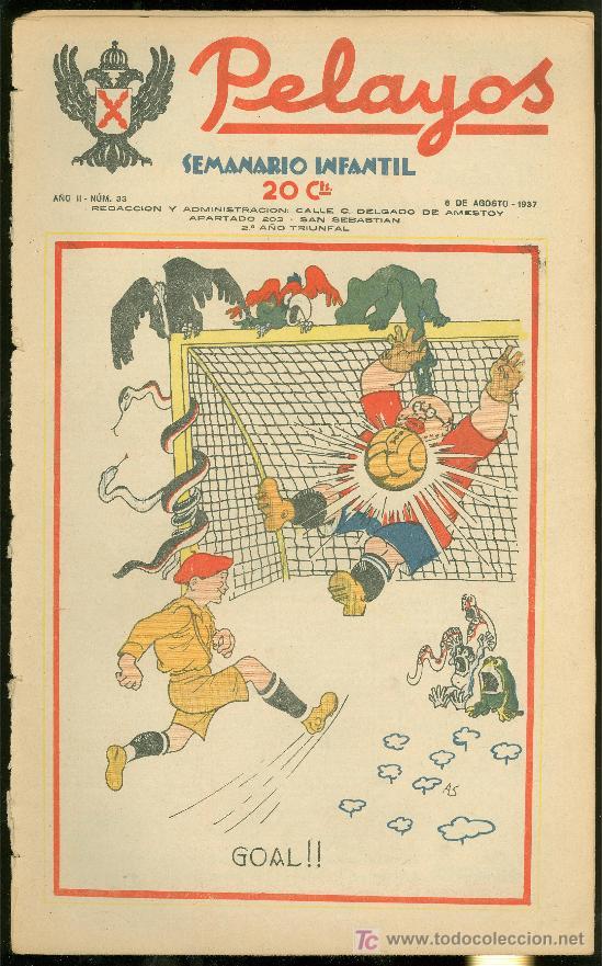 PELAYOS. SEMINARIO INFANTIL. Nº 33. AGOSTO 1937. (Tebeos y Comics - Tebeos Otras Editoriales Clásicas)