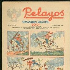 Tebeos: PELAYOS. SEMINARIO INFANTIL. Nº 41. OCTUBRE 1937.. Lote 19381145