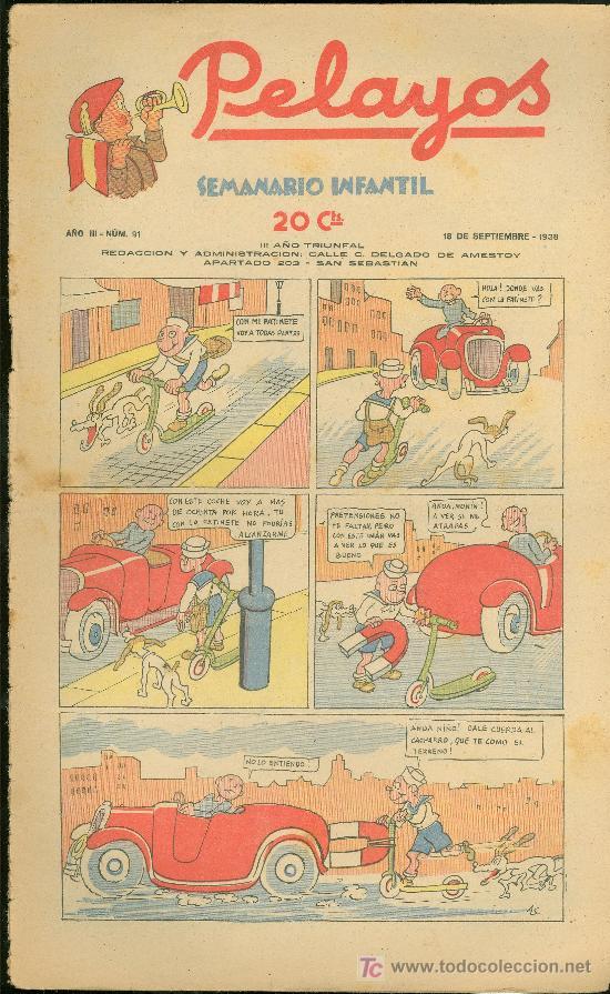 PELAYOS. SEMINARIO INFANTIL. Nº 91. SEPTIEMBRE 1938. (Tebeos y Comics - Tebeos Otras Editoriales Clásicas)