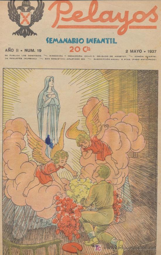 PELAYOS Nº 19. MAYO 1937. (Tebeos y Comics - Tebeos Clásicos (Hasta 1.939))