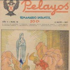 Tebeos: PELAYOS Nº 19. MAYO 1937.. Lote 20445293