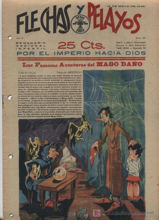FLECHAS Y PELAYOS Nº 23. (Tebeos y Comics - Tebeos Clásicos (Hasta 1.939))