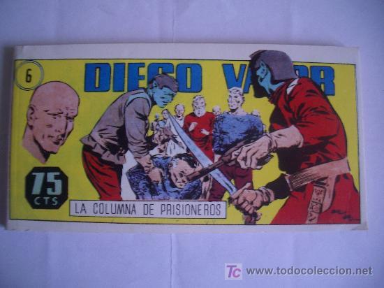 DIEGO VALOR. LA COLUMNA DE PRISIONEROS. Nº6, IBERCOMIC-MAM, 1986 (Tebeos y Comics - Tebeos Otras Editoriales Clásicas)