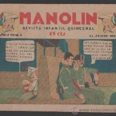 Tebeos: TEBEO COMIC MANOLIN AÑO 1 NUMERO 9 1928 LEER DESCRIPCION. Lote 22590134