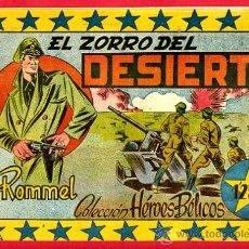 Tebeos: HEROES BELICOS , ROMMEL , Nº 2 , EDITORIAL SIMBOLO , ORIGINAL , ANTIGUO , B. Lote 24338858