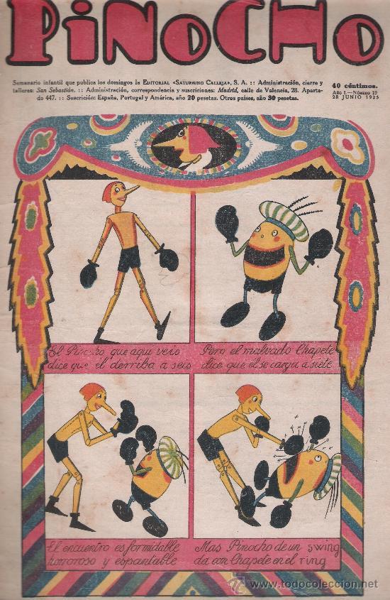 PINOCHO Nº 19. EDITORIAL CALLEJA 1925. (Tebeos y Comics - Tebeos Clásicos (Hasta 1.939))