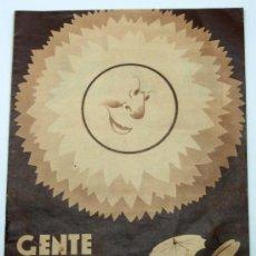Tebeos: GENTE MENUDA SUPLEMENTO INFANTIL BLANCO Y NEGRO 7 AGOSTO 1932. Lote 24761112