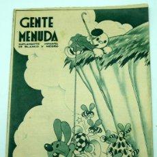 Tebeos: GENTE MENUDA SUPLEMENTO INFANTIL BLANCO Y NEGRO 19 ABRIL 1936. Lote 24776841