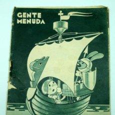 Tebeos: GENTE MENUDA SUPLEMENTO INFANTIL BLANCO Y NEGRO 3 MAYO 1936. Lote 24776875