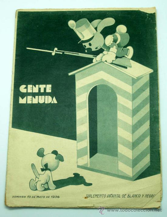 GENTE MENUDA SUPLEMENTO INFANTIL BLANCO Y NEGRO 10 MAYO 1936 (Tebeos y Comics - Tebeos Clásicos (Hasta 1.939))