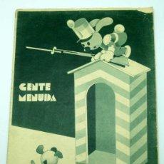 Tebeos: GENTE MENUDA SUPLEMENTO INFANTIL BLANCO Y NEGRO 10 MAYO 1936. Lote 24776915