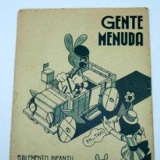 Tebeos: GENTE MENUDA SUPLEMENTO INFANTIL BLANCO Y NEGRO 31 MAYO 1936. Lote 24776961