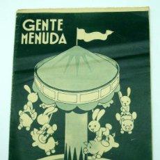 Tebeos: GENTE MENUDA SUPLEMENTO INFANTIL BLANCO Y NEGRO 21 JUNIO 1936. Lote 24777000