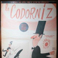 Tebeos: LA CODORNIZ - AÑO XXIV - Nº 1300 - 16-10-1966. Lote 61348369