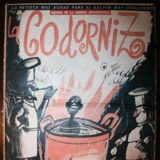 Tebeos: LA CODORNIZ - AÑO XXIII - Nº 1137 - 01-09-1963 . Lote 26808549