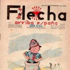 Tebeos: FLECHA. SEPTIEMBRE 1938 - NUMERO 88. NUEVO SIN LEER. Lote 27191634