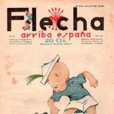 Tebeos: FLECHA. JULIO 1938 - NUMERO 80. NUEVO SIN LEER. Lote 27191754