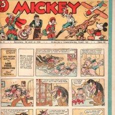 Tebeos: MICKEY. REVISTA INFANTIL ILUSTRADA - AÑO II NUMERO 60, ABRIL 1936 . Lote 27213587