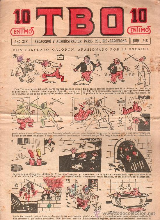 T.B.O - AÑO XIX, NUMERO 918 (Tebeos y Comics - Tebeos Clásicos (Hasta 1.939))