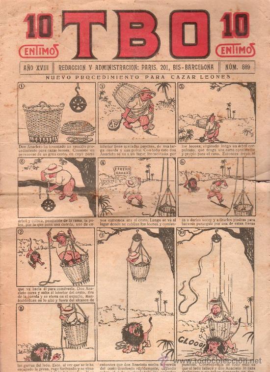T.B.O - AÑO XVIII, NUMERO 889 (Tebeos y Comics - Tebeos Clásicos (Hasta 1.939))
