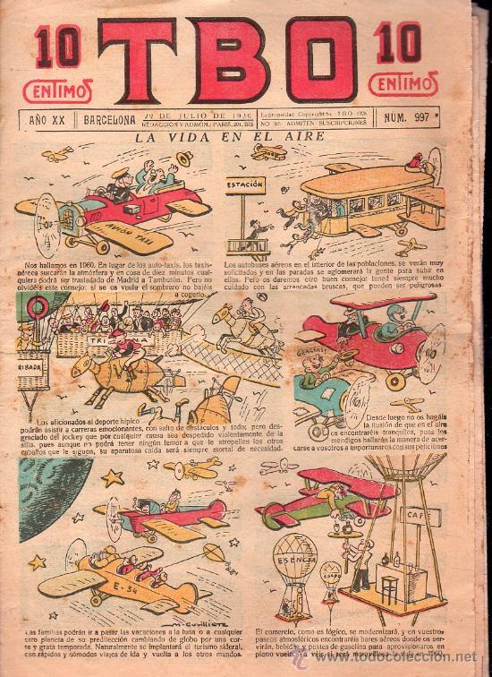 T.B.O - AÑO XX, NUMERO 997 (Tebeos y Comics - Tebeos Clásicos (Hasta 1.939))