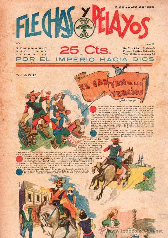 FLECHAS Y PELAYOS - AÑO II, NUMERO 31 (Tebeos y Comics - Tebeos Clásicos (Hasta 1.939))