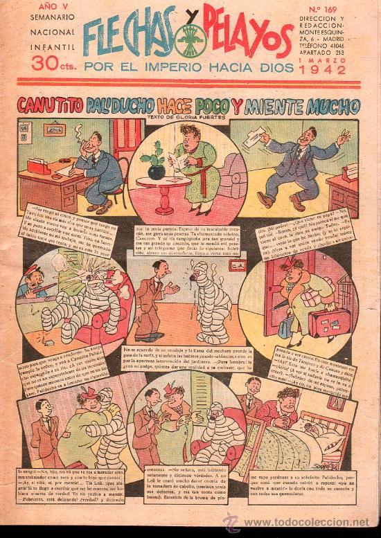 FLECHAS Y PELAYOS - AÑO V, NUMERO 169 (Tebeos y Comics - Tebeos Clásicos (Hasta 1.939))