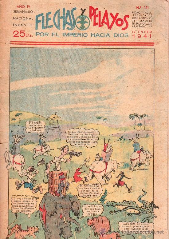 FLECHAS Y PELAYOS - AÑO IV, NUMERO 111 (Tebeos y Comics - Tebeos Clásicos (Hasta 1.939))