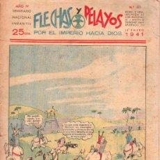 Tebeos: FLECHAS Y PELAYOS - AÑO IV, NUMERO 111. Lote 27324157