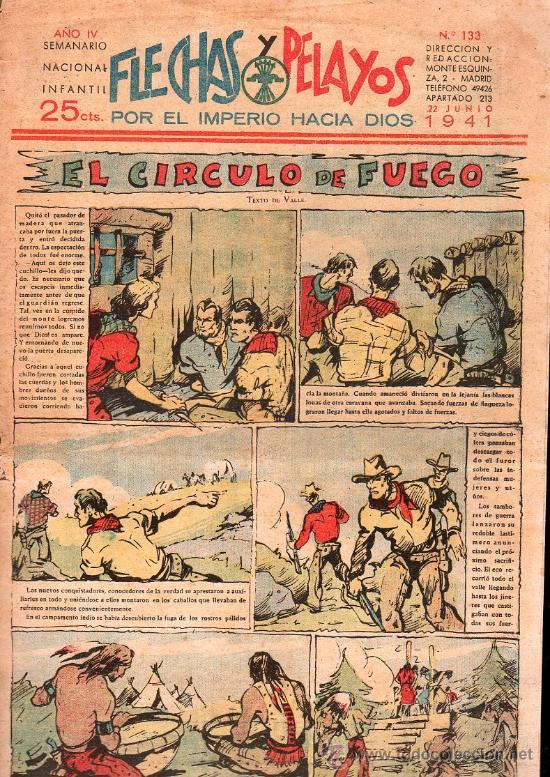 FLECHAS Y PELAYOS - AÑO IV, NUMERO 133 (Tebeos y Comics - Tebeos Clásicos (Hasta 1.939))