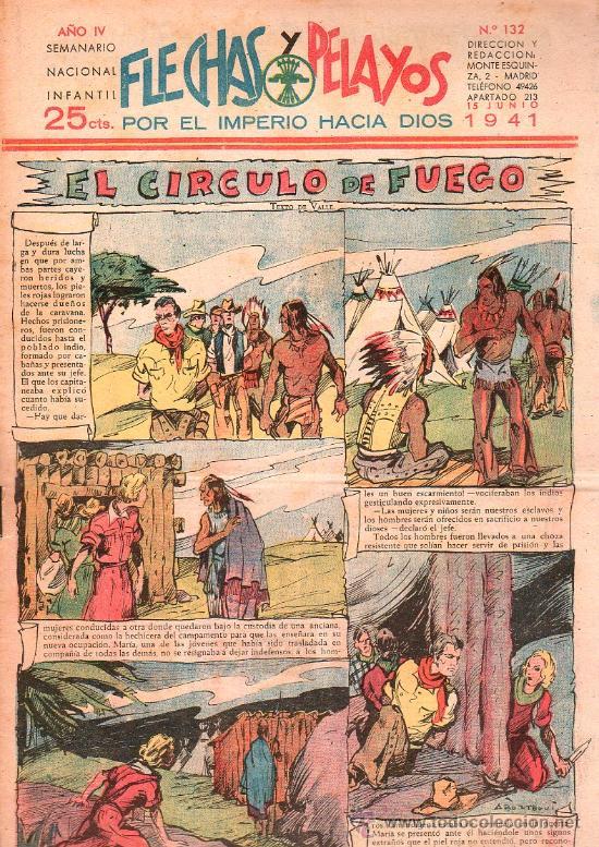 FLECHAS Y PELAYOS - AÑO IV, NUMERO 132 (Tebeos y Comics - Tebeos Clásicos (Hasta 1.939))