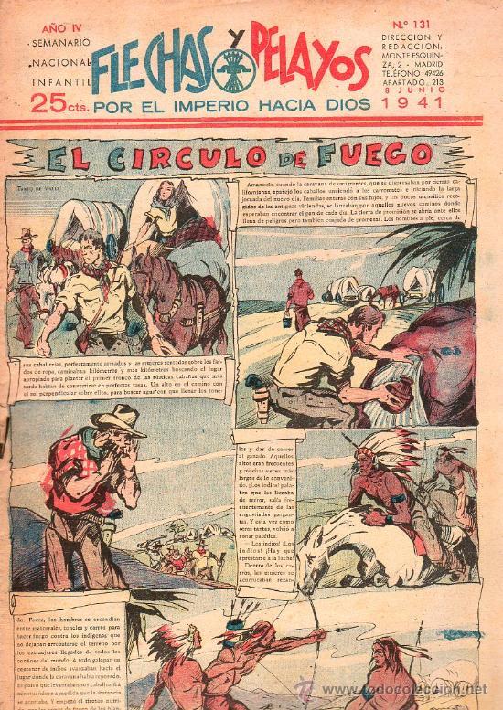 FLECHAS Y PELAYOS - AÑO IV, NUMERO 131 (Tebeos y Comics - Tebeos Clásicos (Hasta 1.939))