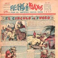 Tebeos: FLECHAS Y PELAYOS - AÑO IV, NUMERO 131. Lote 27324186