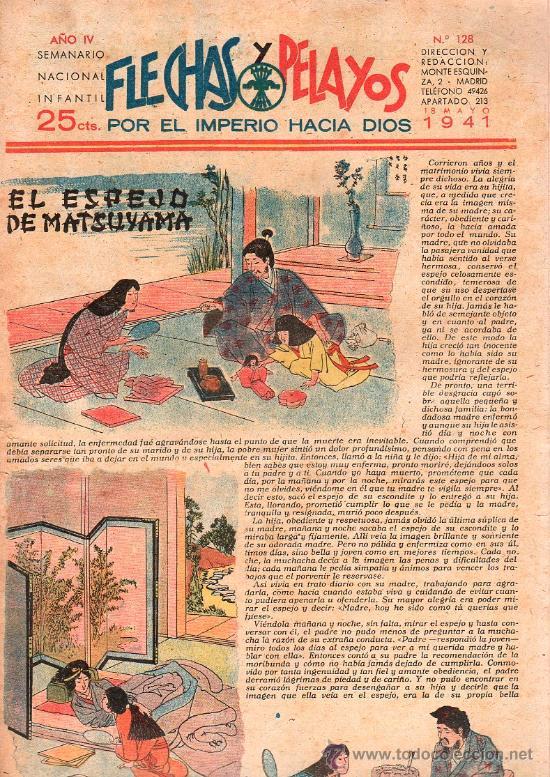 FLECHAS Y PELAYOS - AÑO IV, NUMERO 128 (Tebeos y Comics - Tebeos Clásicos (Hasta 1.939))
