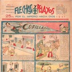 Tebeos: FLECHAS Y PELAYOS - AÑO IV, NUMERO 125. Lote 27324251