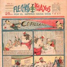 Tebeos: FLECHAS Y PELAYOS - AÑO IV, NUMERO 124. Lote 27324261