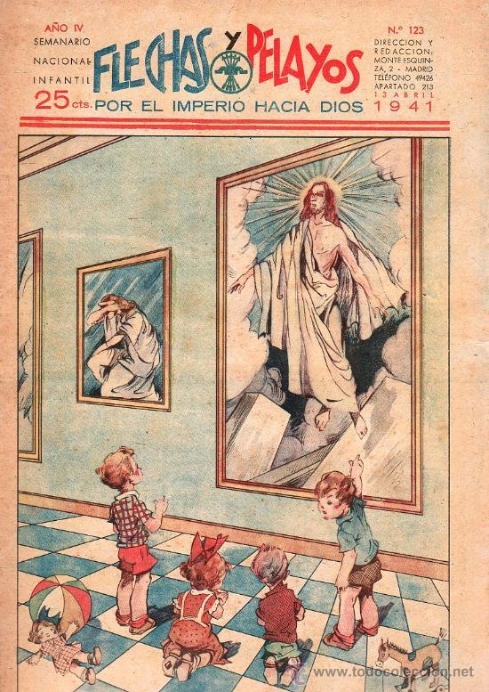 FLECHAS Y PELAYOS - AÑO IV, NUMERO 123 (Tebeos y Comics - Tebeos Clásicos (Hasta 1.939))