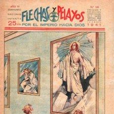Tebeos: FLECHAS Y PELAYOS - AÑO IV, NUMERO 123. Lote 27324267