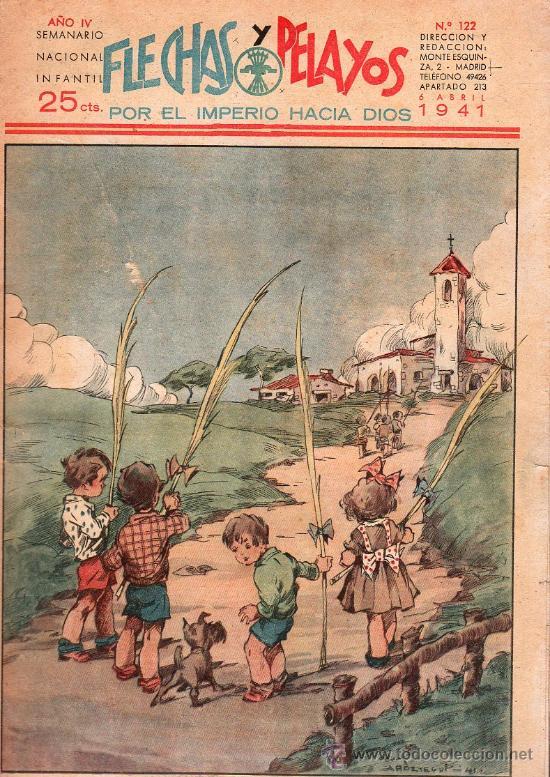 FLECHAS Y PELAYOS - AÑO IV, NUMERO 122 (Tebeos y Comics - Tebeos Clásicos (Hasta 1.939))