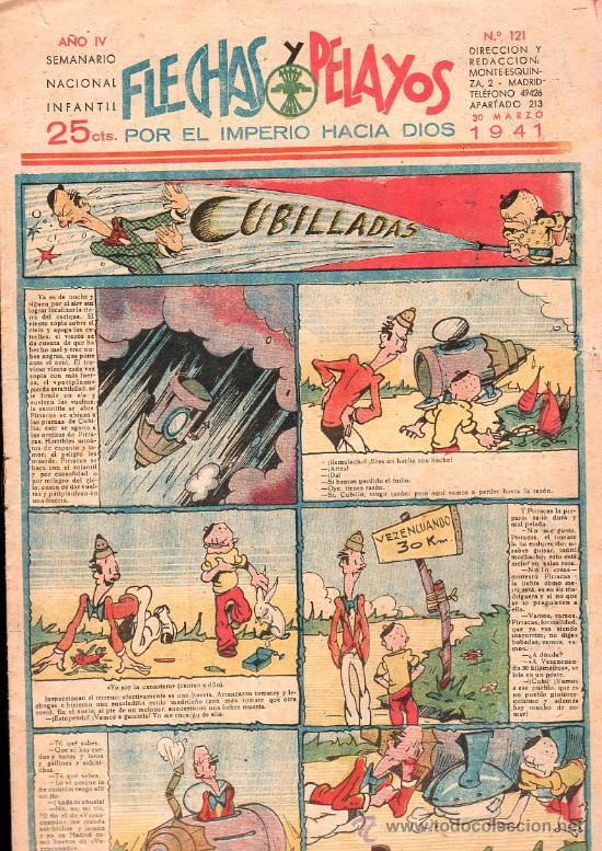 FLECHAS Y PELAYOS - AÑO IV, NUMERO 121 (Tebeos y Comics - Tebeos Clásicos (Hasta 1.939))