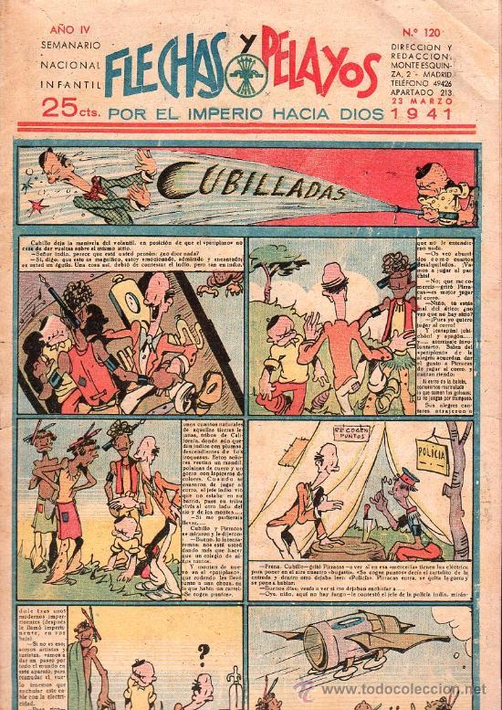 FLECHAS Y PELAYOS - AÑO IV, NUMERO 120 (Tebeos y Comics - Tebeos Clásicos (Hasta 1.939))