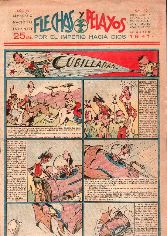 FLECHAS Y PELAYOS - AÑO IV, NUMERO 119 (Tebeos y Comics - Tebeos Clásicos (Hasta 1.939))