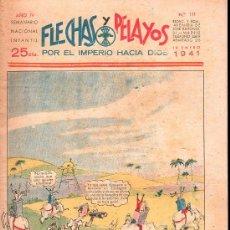 Tebeos: FLECHAS Y PELAYOS - AÑO IV, NUMERO 111. NUEVO SIN LEER. Lote 27324354