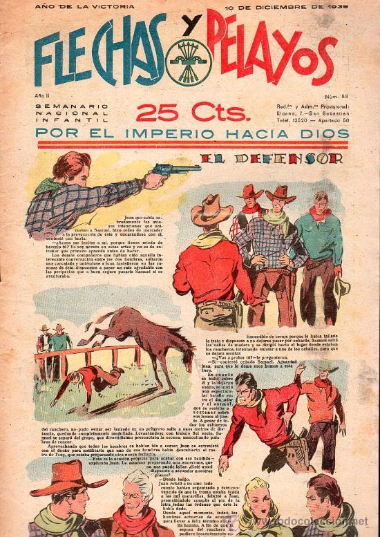 FLECHAS Y PELAYOS - AÑO II, NUMERO 53. NUEVO SIN LEER (Tebeos y Comics - Tebeos Clásicos (Hasta 1.939))
