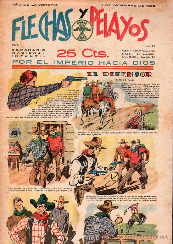 FLECHAS Y PELAYOS - AÑO II, NUMERO 52. NUEVO SIN LEER (Tebeos y Comics - Tebeos Clásicos (Hasta 1.939))
