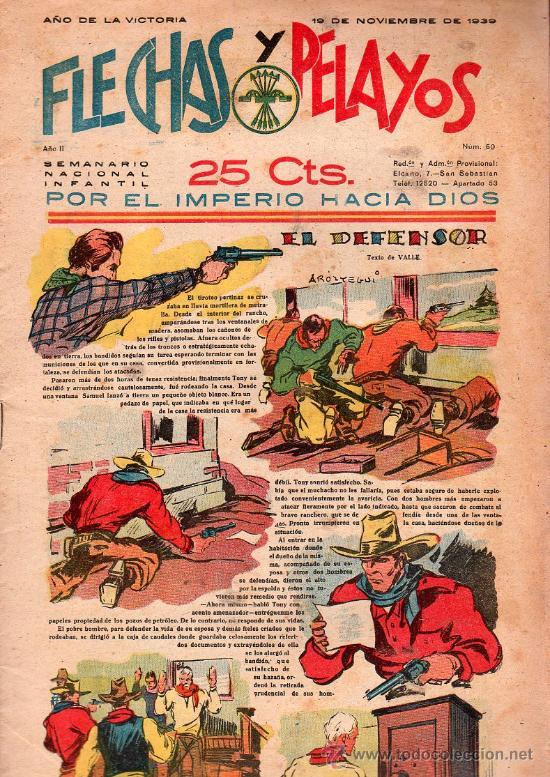 FLECHAS Y PELAYOS - AÑO II, NUMERO 50. NUEVO SIN LEER (Tebeos y Comics - Tebeos Clásicos (Hasta 1.939))