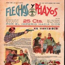 Tebeos: FLECHAS Y PELAYOS - AÑO II, NUMERO 46. NUEVO SIN LEER. Lote 27325154